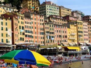 Camogli Italy colored buildings